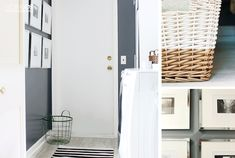 The laundry room now has sleek style, lots and lots of storage, and everyday practical solutions!