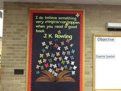 School door decorations book classroom decor 17 Ideas - New Deko Sites Harry Potter Display, Harry Potter Library, Harry Potter Classes, Harry Potter Classroom, Theme Harry Potter, Harry Potter Room, Class Displays, School Displays, Classroom Displays