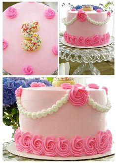 Birthday Cake Simple Pink Princess Party 70 Ideas For 2019 Pretty Cakes, Cute Cakes, Beautiful Cakes, Amazing Cakes, Girly Cakes, Fancy Cakes, Pink Cakes, Cake Decorating Techniques, Cake Decorating Tips