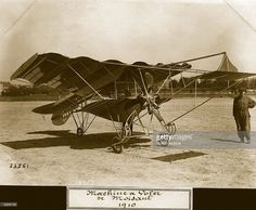 American aviator John Moisant's second bi-plane featuring a corrugated metal upper wing. Aeroplane Album - Vol 3 Page 48