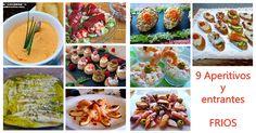 Recetas variadas de aperitivos y entrantes frios