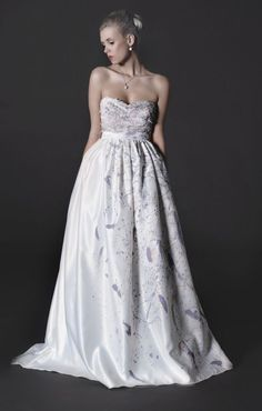 A painted wedding dress! Love it or good reason to keep paint thinner around?