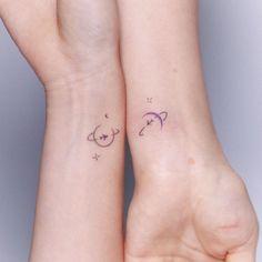 """하우디타투. 라인타투. 감성타투. 미니타투 on Instagram: """"Handpoke 우정타투✨"""" Friendship Tattoos, Hate, Friend Tattoos"""