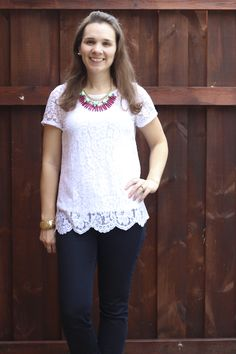 I love this blouse! Love that the tank is included. Stitch Fix April 2014 Review ~ Spoonful of Flavor