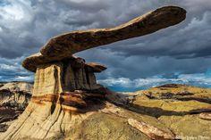 "Amazing Hoodoo formation - ""King of Wings"", San Juan Basin, New Mexico Badlands."