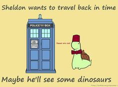 Sheldon wants to time travel....