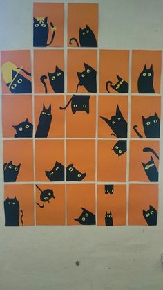 - halloween art - Katte School - cats - Katte School – cats halloween art halloween art ideas halloween *************** Katte school Source by ************ - Halloween Art Projects, Halloween Arts And Crafts, Fall Art Projects, Theme Halloween, Halloween Kids, Splat Le Chat, October Art, Adornos Halloween, 2nd Grade Art