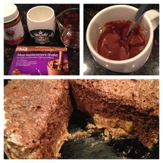Advocare Shake Cake...  If you get tired of drinking your protein shake day after day, this is a MUST try. Just takes a meal replacement shake packet, 1/4-1/3 C water, a coffee mug and 90 seconds!  Entire recipe is one serving and packs 24 grams of protein with 6 grams of  fiber and only 220 calories!
