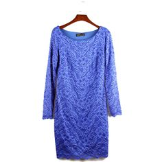 Find More Dresses Information about 2016 New Spring Full O neck Knee Length Dress  Fashion Brief lace Dress Sexy Blue  Print Knee Length,High Quality dress up t shirt,China dress crown Suppliers, Cheap dress xs from Comme t'y es belle! on Aliexpress.com
