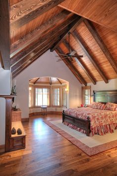 High ceilings, natural lighting, and wood. What beautiful architecture and interior design. via Ryan Group Architects, Truckee, CA. www.truckee.com