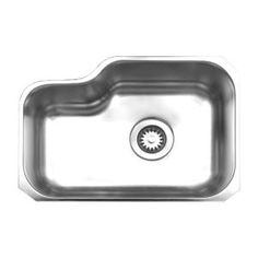 Whitehaus Collection Noah's Collection Undermount Brushed Stainless Steel 22 in. Single Bowl Kitchen Sink WHNU1913-BSS at The Home Depot - Mobile