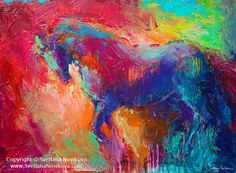 Vibrant Stallion Horse contemporary painting by svetlananovikova