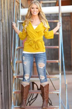 "CCB Cardigan - Mustard from Closet Candy Boutique Use code ""repjennifer"" for 10% off and FREE shipping!"