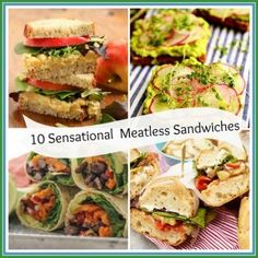 What's for lunch today (and for the rest of the week)? Do you need some ideas? How about 10 Sensational Sandwich ideas? Veg Sandwich, Sandwiches For Lunch, Sandwich Ideas, Veggie Recipes, Vegetarian Recipes, Healthy Recipes, Tasty Meals, Zucchini Relish, Fast Dinners