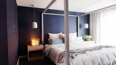 "Darren Palmer's first words for Daz and Dea's master bedroom was ""phwoar, I love it!"" (PICTURES: Elizabeth Allnutt Photography)"