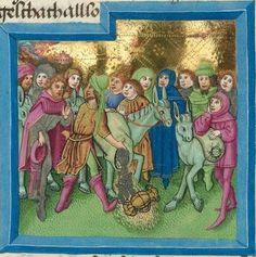 """Furtmeyr-Bibel (Deutsche Bibel """"Münchener Altes Testament""""). Band 1:  Genesis - Ruth. Cgm 8010a 1465-70, Regensburg Folio 42"""