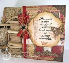 """May 2015 Hot Off the Press """"Noted Paper"""" & RRR - Sympathy Card by Kathy W. Clement; Kathy by Design"""