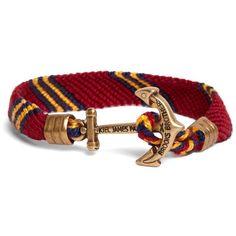 Brooks Brothers Kiel James Patrick Burgundy Hitch Knot Braided... ($48) ❤ liked on Polyvore featuring men's fashion, men's jewelry, men's bracelets, jewelry, bracelets, brooks brothers and burgundy