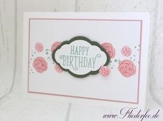 "www.fliederfee.de: Geburtstagskarte m. ""Happy Birthday Gorgeous"""