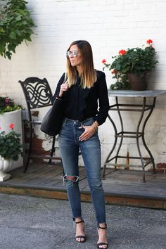 Outfits File: The Eyelet and Ruffle Shirt