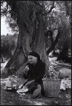 "Lunch in an olive grove.""A Greek Portfolio"" Costa Manos/Magnum Photos Greece Pictures, Old Pictures, Old Photos, Vintage Photos, Greece Photography, Old Photography, Documentary Photographers, Famous Photographers, Magnum Photos"