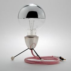 Table lamp with textile cable by Cablelovers