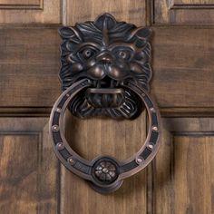 Panthera Brass Door Knocker