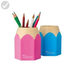 Wisedeal Creative Pencil Tip Design Pen Holder (Blue) - Fun stuff and gift ideas (*Amazon Partner-Link)