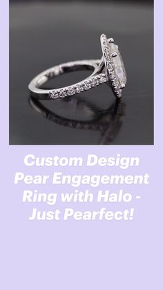 Pear Cut Engagement Rings, Edgy Chic, Round Cut Diamond, Design Process, Chic Outfits, Custom Design, Feminine, Classic, Girly