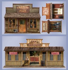 This would be a great way to designate space for the party! 5' Wild West Town Props Wall Add-Ons from BirthdayExpress.com