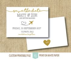 Travel Themed Wedding Save the Date or by AestheticJourneys