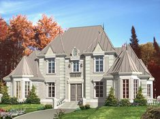 <!-- Generated by XStandard version 2.0.0.0 on 2015-04-29T15:17:02 --><ul><li>Live in a reasonably-sized castle of your own with this European house plan.</li><li>The steep hip roof is intricately detailed, adding to the elegance of the facade.</li><li>An air-lock foyer ushers you into the grand family room that is set in a bay.</li><li>Nearby, the formal living room merges with the dining room, making it easy to entertain.</li><li>The study has a separate entrance that is ideal for a home…