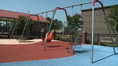 Great swing choices at Hartselle's New Special Needs Playground & Splash Pad | WHNT.com — Huntsville News & Weather from WHNT Television News19 HD