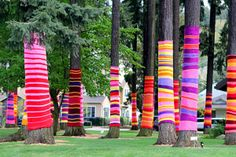 Ideas for yarn bombing by Modern Parents Messy Kids