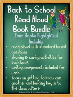Four books highlighted with read aloud, standard based discussion questions, class culture building activities to start the year, and journal responses.Plans to Accompany Books Include...-Develop Rules & Gain Buy In-Get to Know Each Other as Individuals-Being Present and Mindfulness in the Classroom