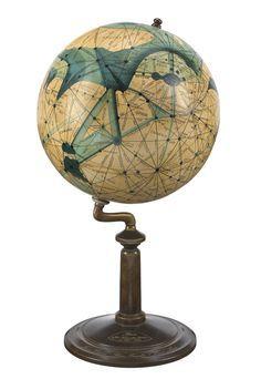 Mars Lowell's Globe Emmy Ingeborg Brun, a Danish Mars enthusiast and socialist… World Globe Map, Globe Art, World Globes, Map Globe, Vintage Globe, Vintage Maps, Maritime Museum, Old Maps, Instruments