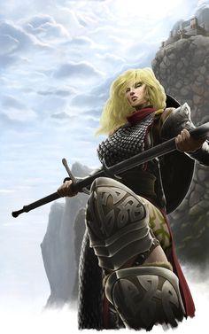 My GW2 Norn Warrior (WIP) by greyfoxx082 on deviantART