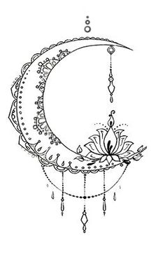 Bohemian Moon Tattoo