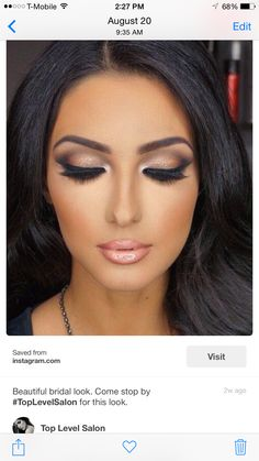 Bridal makeup look! #Airbrush