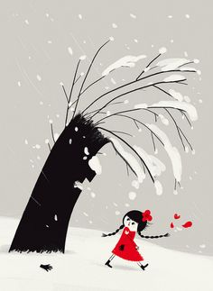 Winter day illustration