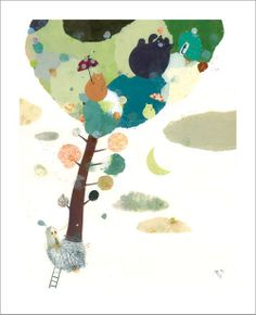 Veronique Joffre - Print - A Tree In My Garden - Nucleus | Art Gallery and Store