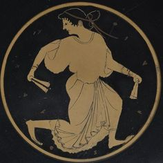 """Mount Holyoke's Dancing Woman may represent a maenad, one of the most popular members of the mythical entourage of Dionysus, the Greek god of wine. Expressing the spirit of the """"divine frenzy"""" associated with rituals dedicated to the deity, she dances ecstatically to the music of her own krotala, or castenets"""