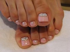 Toes bling and pretty pink
