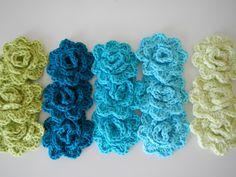 Crochet rose -Tutorial ❥ 4U // hf