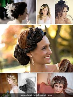 Vintage Inspired Wedding Hairpieces