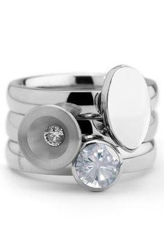 be Gift set Twisted Silver MelanO - Handmadebeads Fashion Rings, Fashion Jewelry, Wedding Finger, Ring Watch, Twist Ring, Fine Jewelry, Unique Jewelry, Minimalist Jewelry, Beautiful Rings