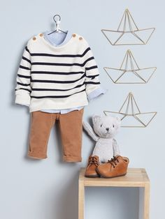 Baby boy look, fall winter 2019 collection - Baby boy looks, fall winter baby collection - Cyrillus Baby Boy Photography, Kids Fashion Photography, Little Boy Fashion, Kids Fashion Boy, Toddler Boys, Kids Boys, New Baby Dress, Kid Styles, Baby Boy Outfits