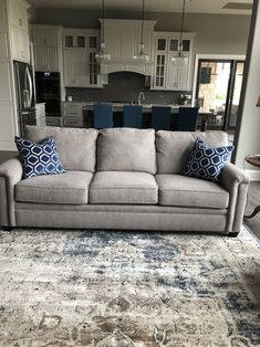 Home Decoration For Living Room Code: 3285668272 Blue Living Room Color, Farm House Living Room, Curtains Living Room, Blue Accents Living Room, Beige Living Rooms, Living Room Grey, Blue Living Room Decor, Blue Accent Wall Living Room, Rugs In Living Room