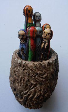 Nest. Altered Art, Art Dolls, Nest, Buddha, Lion Sculpture, Statue, Nest Box, Sculpture