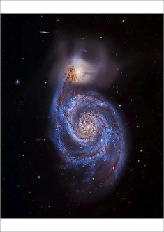 Optical image of theWhirlpool galaxy NGC and its companionNGC 5195 (top). North is at top cm) Fine Art Print Framed, Poster, Canvas Prints, Puzzles, Photo Gifts and Wall Art Fine Art Prints, Framed Prints, Canvas Prints, Optical Image, Whirlpool Galaxy, Science Photos, Light Year, Galaxy Art, Image Photography